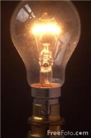 The Light Bulb is Invented by Thomas Alva Eddison