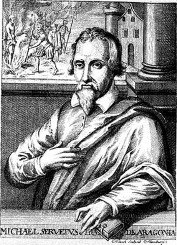 Micheal Servetus: studies the organs and their systems
