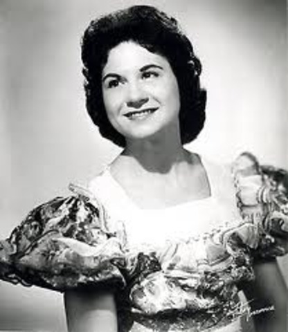 """Kitty Wells' """"It Wasn't God Who Made Honky Tonk Angels"""", an answer song to Hank Thompson's """"The Wild Side of Life"""", is the beginning of the era of female country stars.["""