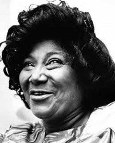Mahalia Jackson becomes the first gospel performer with her own television show, the Mahalia Jackson Show, on CBS