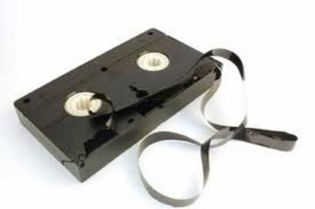 Videocassette recorder invented by  Ampex