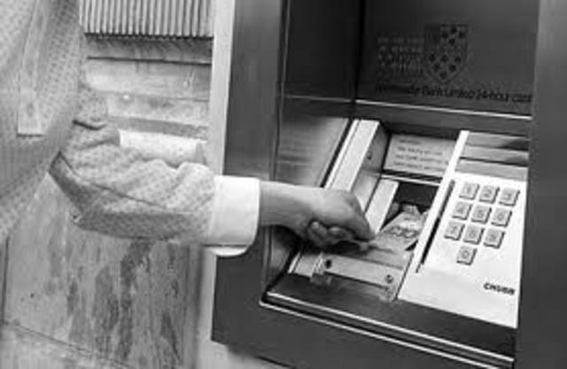 Automatic Teller Machine (ATM) invented by  John Shepherd-Barron