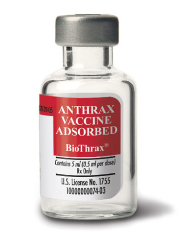 First vaccine for anthrax