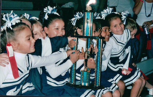 First cheerleading competiton.