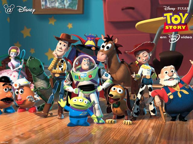 Toy Story - Pixar first CGI movie