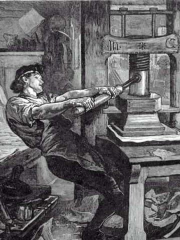 Invención de la imprenta.