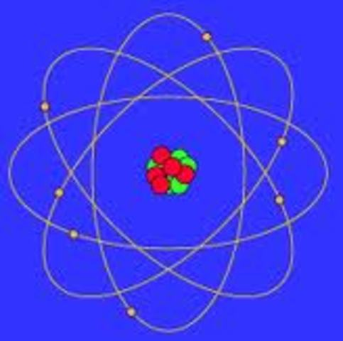 Niels Bohr creates his own model of atomic structure in which he applies the quantum theory