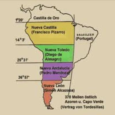 La instauración del virreinato en el Perú timeline