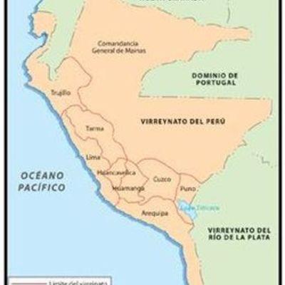 Reyes y Virreyes del Perú timeline