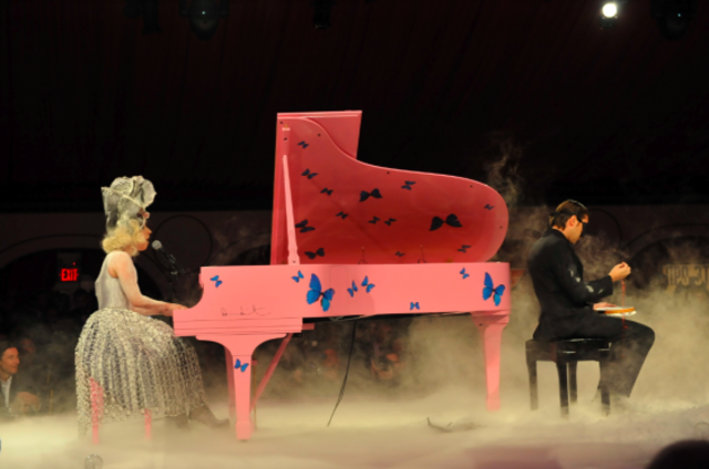 Lady Gaga learned how to play the piano.