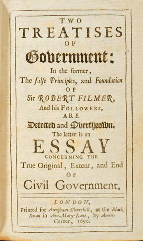 John Locke publishes his Second Treatise of Civil Government