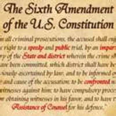 The 6th amendment timeline