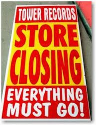 Tower Records Declares Bankruptcy