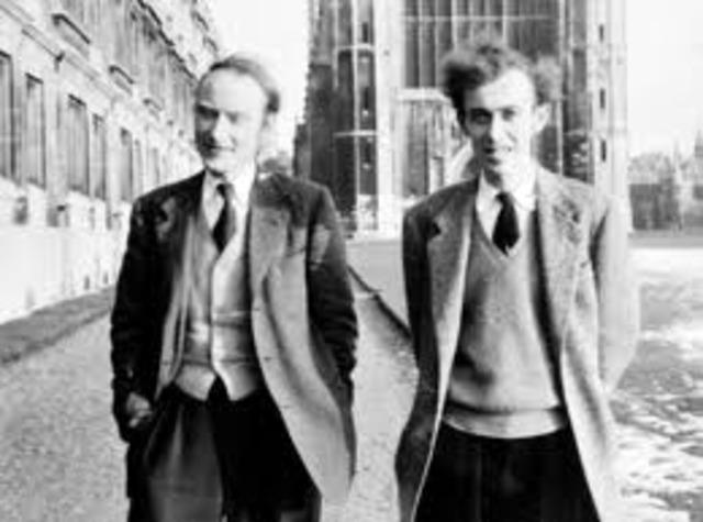 Kames D. Watson and Francis Crick