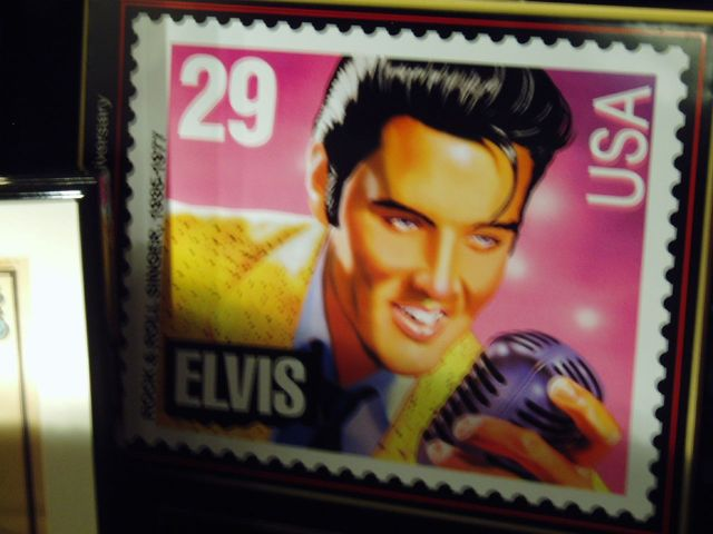 Elvis' stamp is realized by the U.S. Postal Service