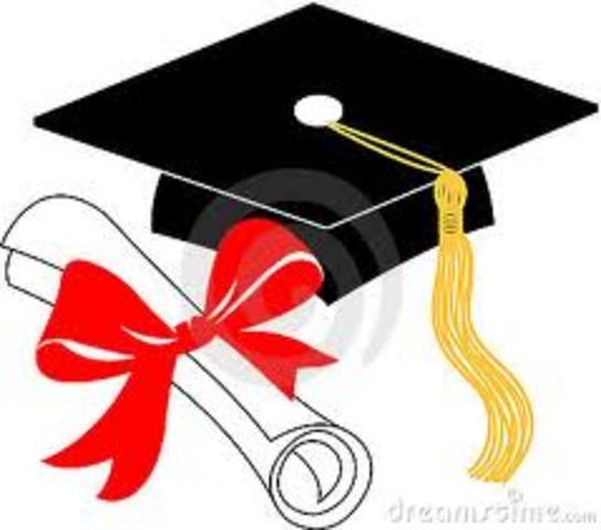 Walt receives his diploma