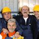 Ouvriers heureux