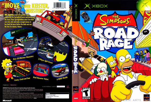 road rage simpsons