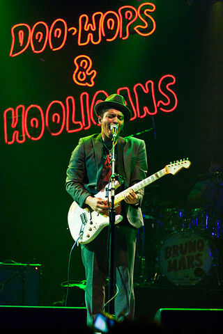bruno mars preforming in houston ,texas in november 2010