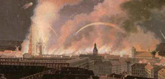 København bombarderes af England