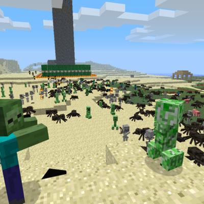 Minecraft mobs timeline