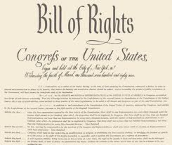 Bill of Rights added to the constituition