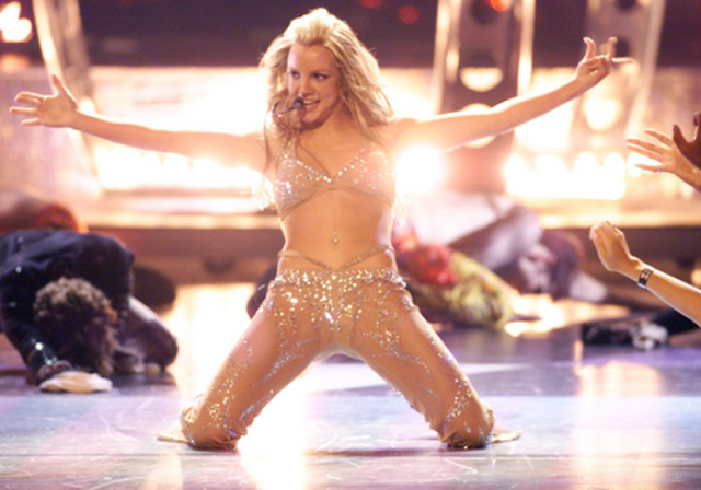 Britney Strips at the 2000 VMAs