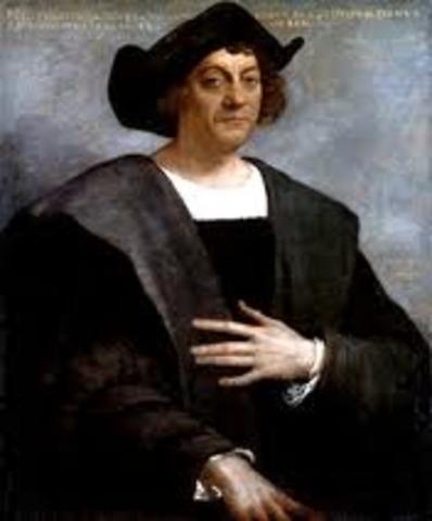 Columbus arrives in American.