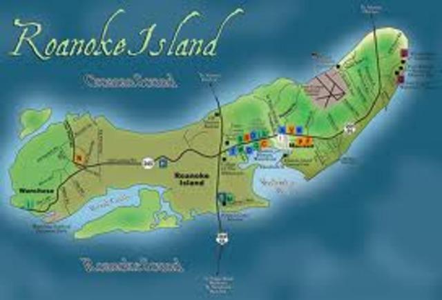 Colony established at Roanoke Island