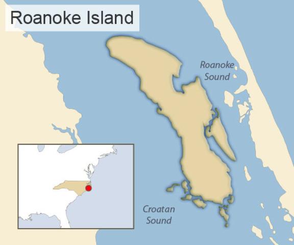First colony Roanoke Island