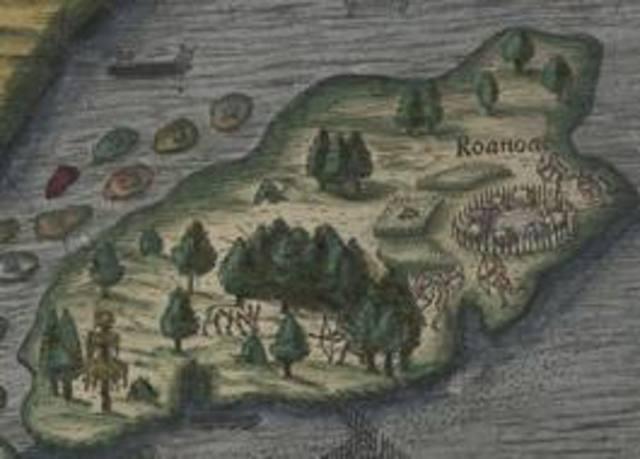 1st colony Roanoke Island
