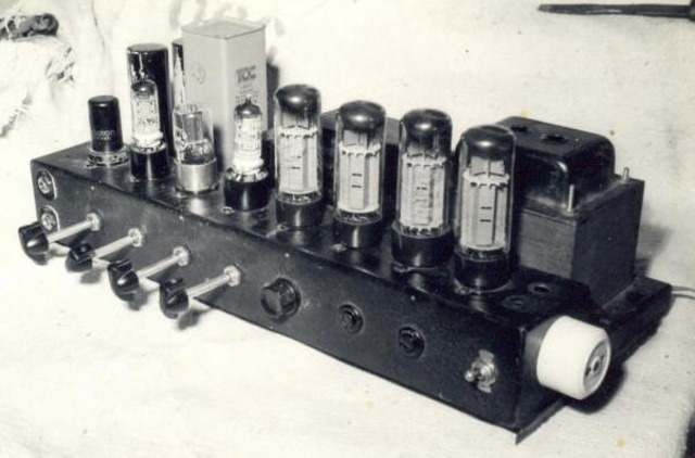 The first electronic signal amplifier.