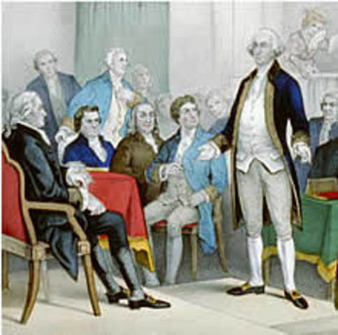 George Washington named Commander and Chief