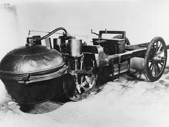 1769 : The first self-propelled car was built