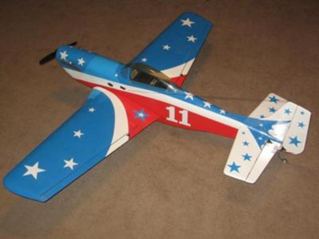 First successful flying model propelled by an internal combustion engine