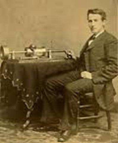 Electric motor-driven phonograph.