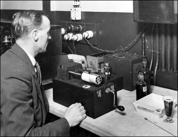 The first radio message is sent across the Atlantic Ocean.