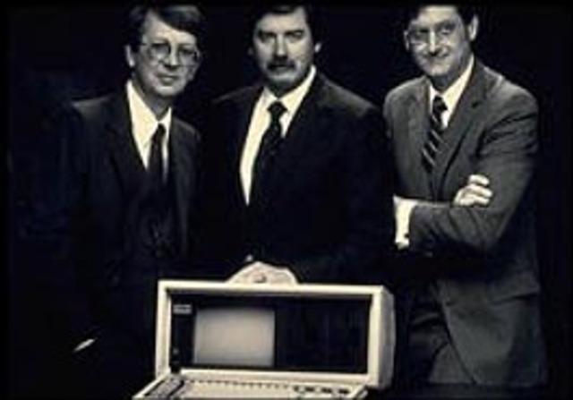 Rod Canion, Jim Harris y Bill Murto.
