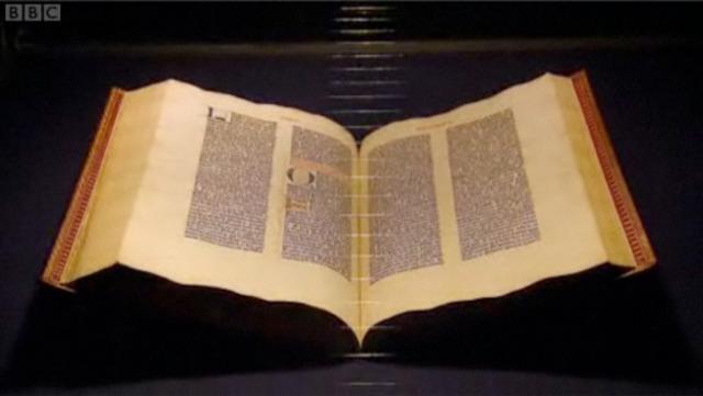 Johannes Gutenberg bible published
