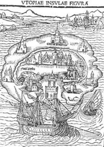 """Thomas More writes """"Utopia"""""""
