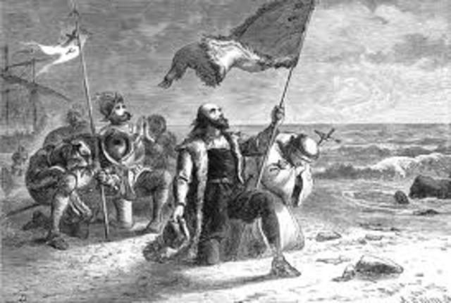 Columbus Sails Ocean