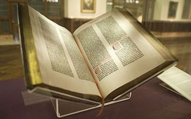Guttenberg Bible is printed