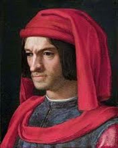 Lorenzo de Medici takes power in Florence