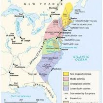 Growth of the 13 colonies from 1600-1770(Gillens+Perri) timeline