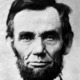 Abraham lincoln head on shoulders needlepoint