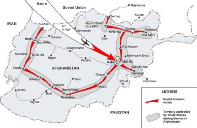 U.S.S.R. invade Afganistan