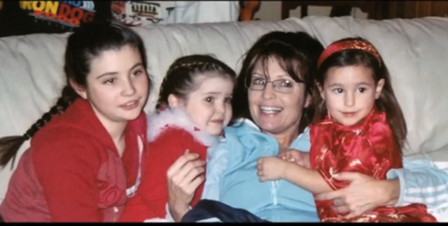Sarah with some kids