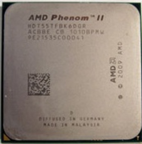 Procesador AMD Phenom II X6 1055T, 2.8 GHz. con Turbo 3D hasta los 3.3 GHz.