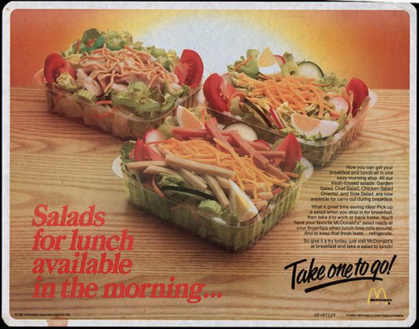 McDonald's goes helathy with fresh salads