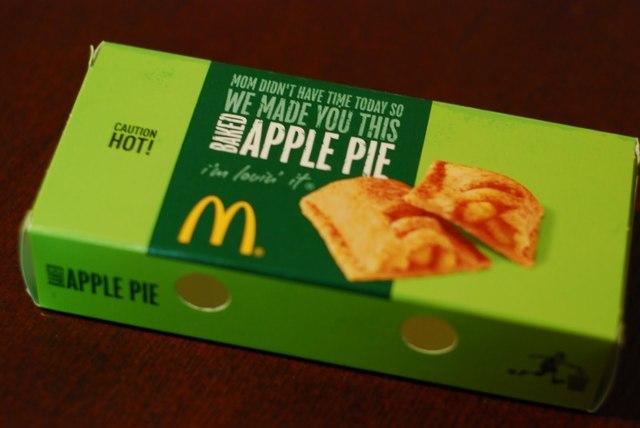 Baked apple pie